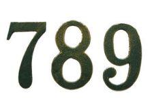 NUMERO CIVICO IN GHISA VERDE ANT.N.0 CM.13
