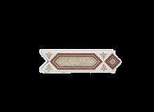 GRESPANIA Decoro bianco e marrone 6 X 20 cm