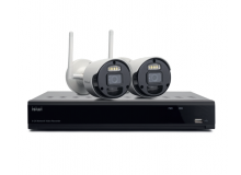 ISIWI KIT WIRELESS CONNECT2 ISW-K1N8BF2MP-2 NVR 8 CANALI + 2 TELECAMERE IP 1080P WIRELESS CON FUNZIONE PIR