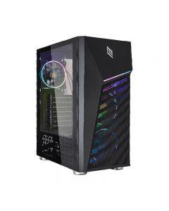 CASE NOUA DIAMOND C3 - ATX 3*Usb3.0/2.0 3*Fan Triplo Halo 1*Strip Led Addressable Side Glass