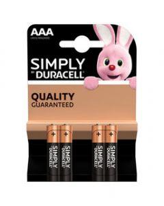 DURACELL SIMPLY ALCALINA M/STILO BL.4 PZ