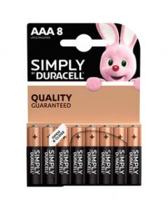 DURACELL SIMPLY ALCALINA M/STIL BL.8PZ.MN2400