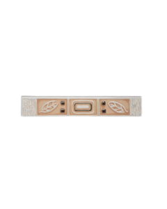 GRESPANIA Decoro rosa carne foglia bianca 5 X 30 cm