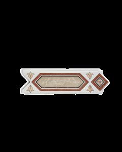 GRESPANIA Decoro spina di pesce bordo e disegno marrone 6 X 20 cm