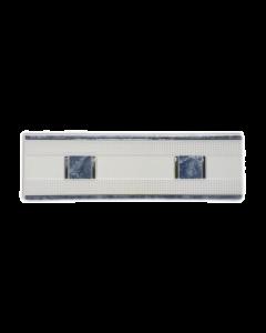 GRESPANIA Decoro bianco con bordo azzurro 9 X 30 CM