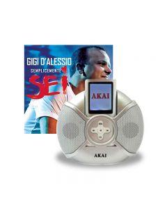 LETTORE MP4 AKAI Gigi D\'\'Alessio 1GB