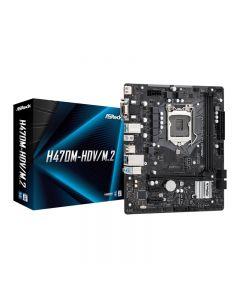MAINBOARD ASROCK H470M-HDV/M.2 - DDR4 SOCKET 1200 M.2 + HDMI Micro ATX