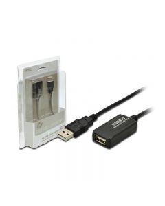 ESTENSORE DI LINEA USB 2.0 M/F DIGITUS DA-70130 CON CAVO DA 5 MT