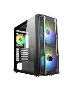 CASE ITEK MAJES 20 MESH - Gaming Full Tower, 2x20cm ARGB fan, USB3, Front Mesh, Side Glass