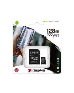 MICRO SD KINGSTON SDCS2/128GB - 128GB CLASSE 10 100MB/S CON ADATTATORE