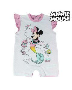 Tutina a Maniche Corte per Bambini Minnie Mouse Rosa Turchese Taglia:Taglia - 24 Mesi