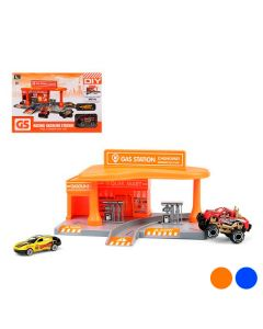 Playset di Veicoli Racing Gas Station Colore:Arancio