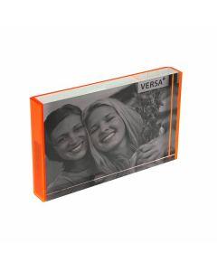 Cornice Portafoto polipropilene Pop Arancio Dimensioni:10 x 15 cm