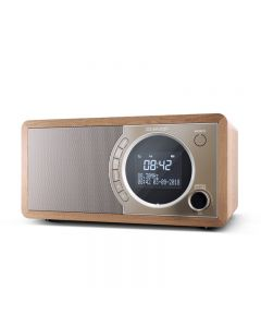 RADIO DIGITALE SHARP DR450 BROWN - DAB DAB+ FM RADIO RDS BLUETOOTH 6W 60 STAZIONI MEMORIZZABILI AUX IN